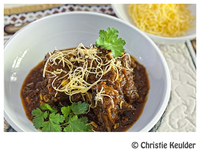 New Mexico style beef chili