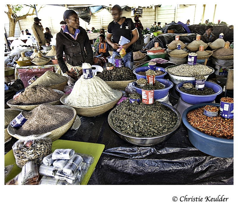 Tukondjeny Market Windhoek, Namibia, where locals come together to sell food they have harvested or imported from neighbouring countries.