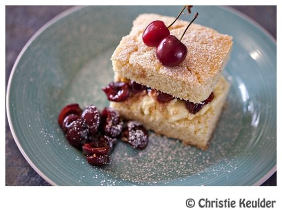 shortcake cherries rosewater