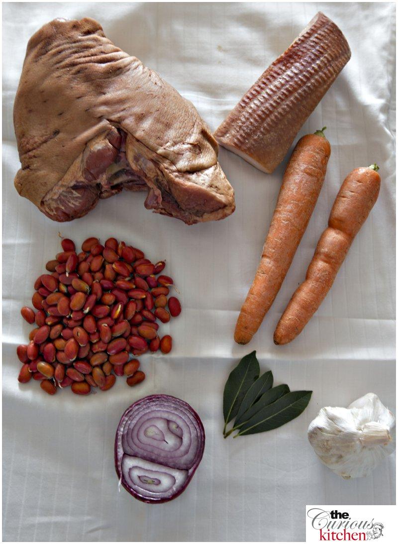 Smoked ham hock (Eisbein) vegetables