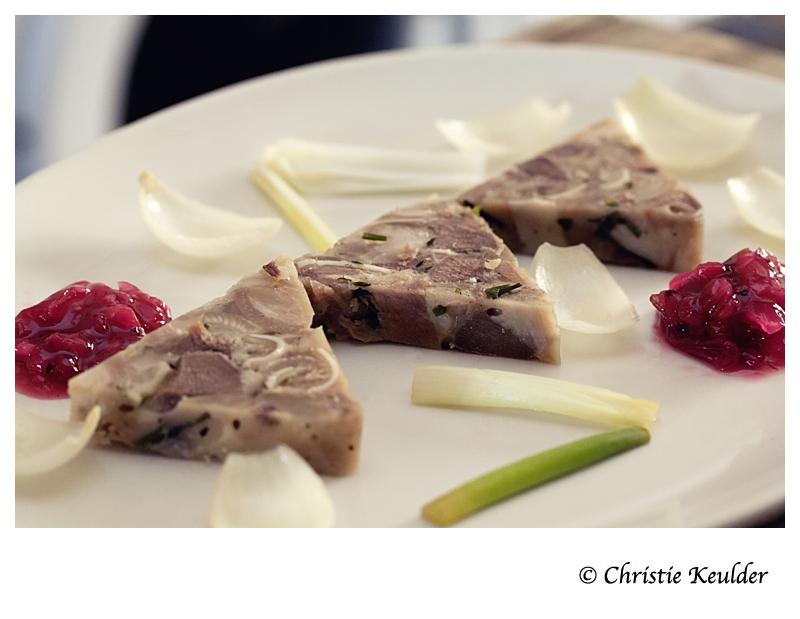 Redcurrant Chutney pork brawn