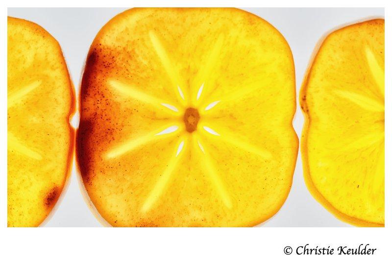 Persimmon fruit (Sharon fruit; Diospyros kaki)