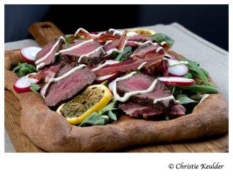 kudu salad trencher bread