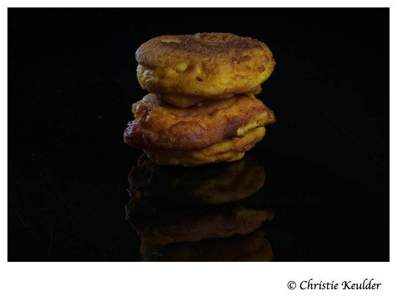 Pumpkin fritters. PHOTO: CHRISTIE KEULDER